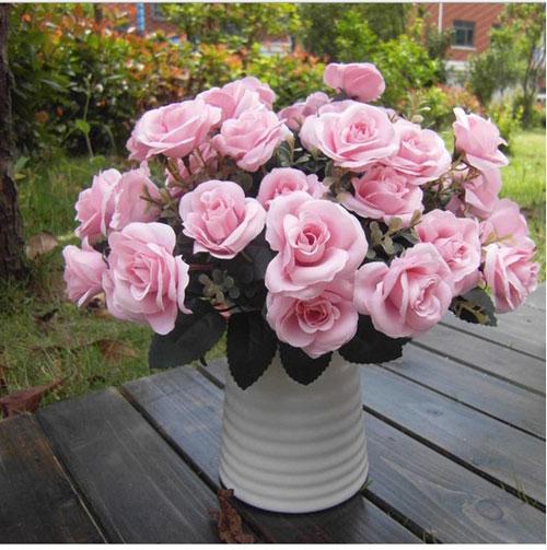 trang tri nha voi hoa gia, hoa vai cao cap - 5