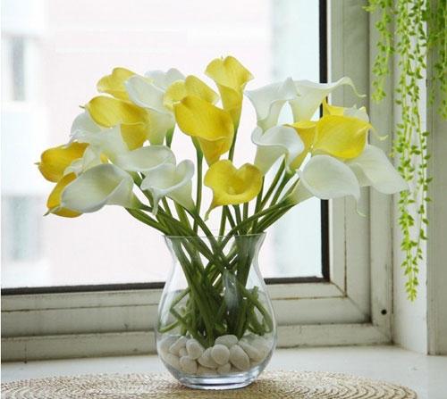 trang tri nha voi hoa gia, hoa vai cao cap - 6