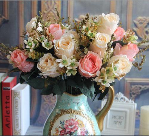 trang tri nha voi hoa gia, hoa vai cao cap - 7