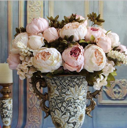 trang tri nha voi hoa gia, hoa vai cao cap - 8