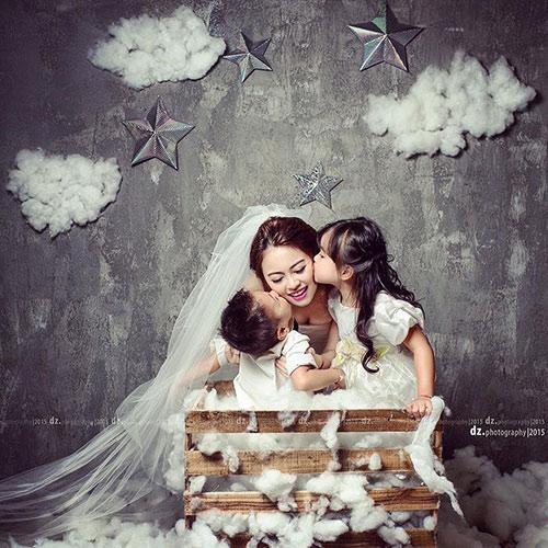 single mom ha thanh xinh dep lan thu 2 mac vay cuoi vi con - 2