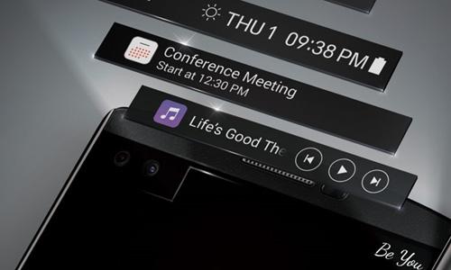 LG chính thức giới thiệu smartphone 2 màn hình V10-2