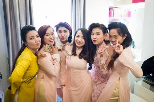 thuy diem mac ao dai cuoi goi cam ben luong the thanh - 4