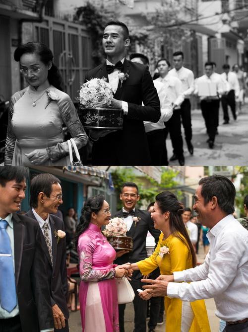 thuy diem mac ao dai cuoi goi cam ben luong the thanh - 5