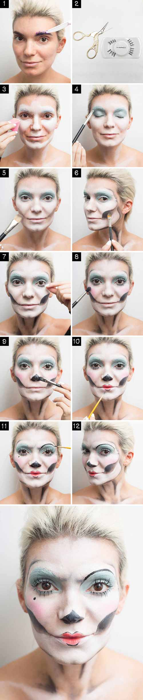 4 cach make-up cuc quai cho dem halloween chi rieng ban co - 5