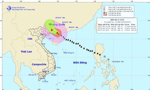 Bão số 4 đã đổ bộ Trung Quốc, miền Bắc mưa lớn-1