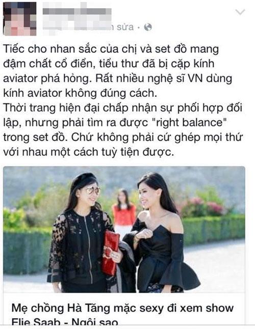Mẹ chồng Tăng Thanh Hà lại vướng nhiều nhận xét trái chiều-1