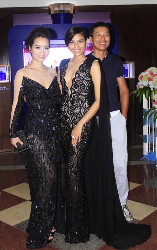 Phạm Hương rạng rỡ trong đêm tiệc mừng tân Hoa hậu-9