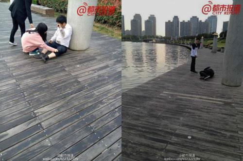 Phẫn nộ công ty TQ phạt nhân viên bò quanh hồ công cộng-2