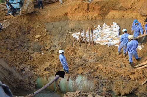 Xây dựng đường ống số 2: Người dân còn chịu cảnh mất nước?-1