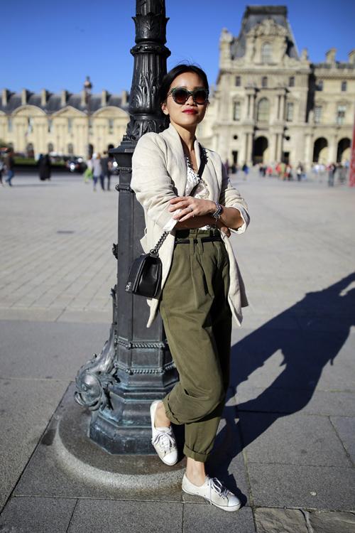 street style viet ron rang paris fashion week xuan he 2016 - 11