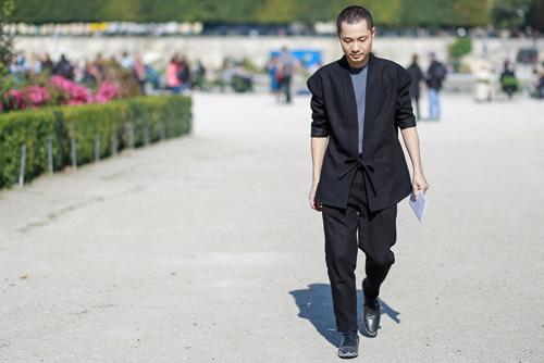 street style viet ron rang paris fashion week xuan he 2016 - 13