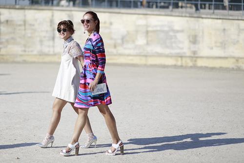street style viet ron rang paris fashion week xuan he 2016 - 1