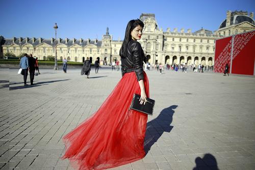 street style viet ron rang paris fashion week xuan he 2016 - 3