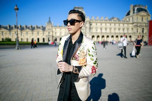 street style viet ron rang paris fashion week xuan he 2016 - 6