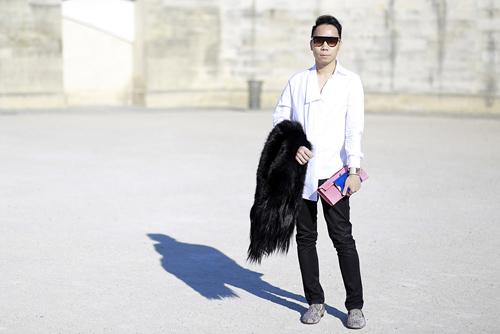 street style viet ron rang paris fashion week xuan he 2016 - 7