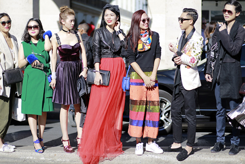street style viet ron rang paris fashion week xuan he 2016 - 10