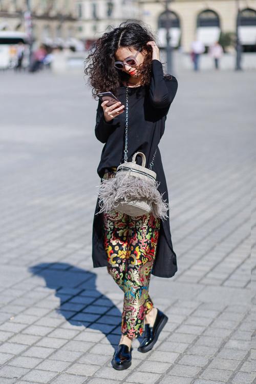 street style viet ron rang paris fashion week xuan he 2016 - 5