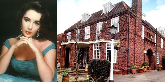 Elizabeth Taylor  Trước khi nổi tiếng với những bộ kim cương đắt tiền và kẻ mắt mèo Ai Cập,Elizabeth Taylor đã trải qua tuổi thơcủa mình trong cănnhà sáu phòng ngủ ở London.