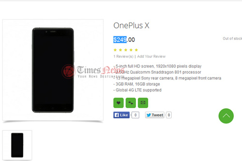 smartphone oneplus x man hinh 5 inch co gia chi 250 usd - 1