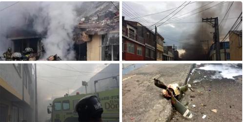 colombia: may bay roi xuong khu dan cu, 12 nguoi thuong vong - 2