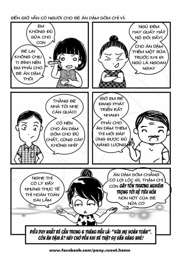 Ký sự ăn dặm bằng tranh cực bổ ích của mẹ Việt-1