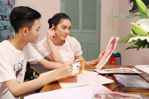 Lý Nhã Kỳ thuê họa sỹ Nghệ An 15 tuổi vẽ thời trang-2