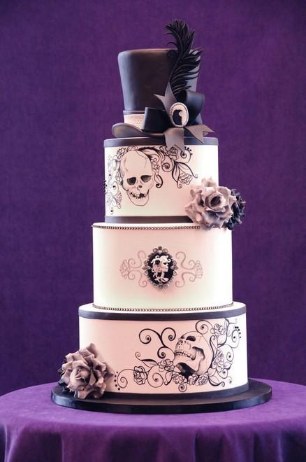 Rùng rợn với những chiếc bánh cưới Halloween-1