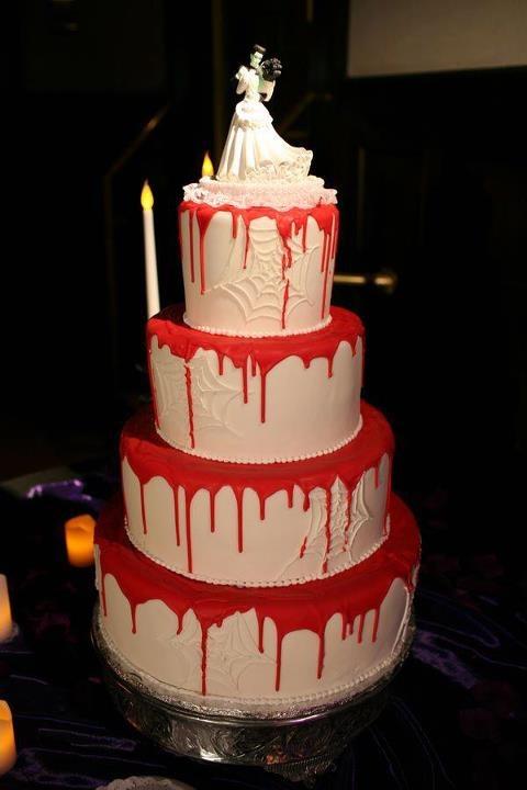 Rùng rợn với những chiếc bánh cưới Halloween-10