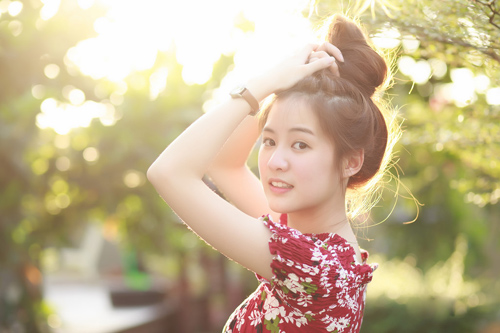 5 hot girl dep nhat thai lan va thoi trang toc dang hoc hoi - 16