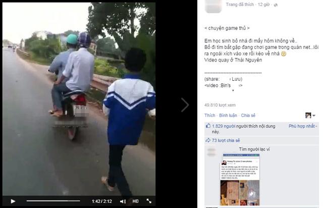 clip: xich con vao xe may keo tren duong vi… game - 1