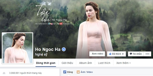 "ha ho bi ""danh bai"" khoi top 10 sao dong fan nhat facebook - 1"