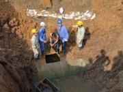 Tin tức - HN: Đường ống nước Sông Đà gặp sự cố lần thứ 16