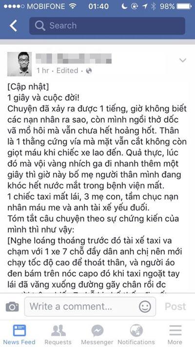 """cau chuyen """"do hen, tranh ra"""" dang suy ngam cua nhan chung vu taxi dam lien hoan - 1"""