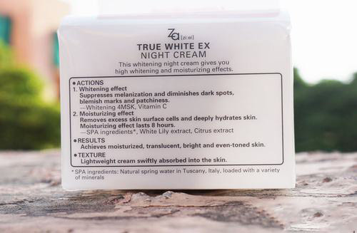 danh gia hu kem duong trang za true white night cream - 1