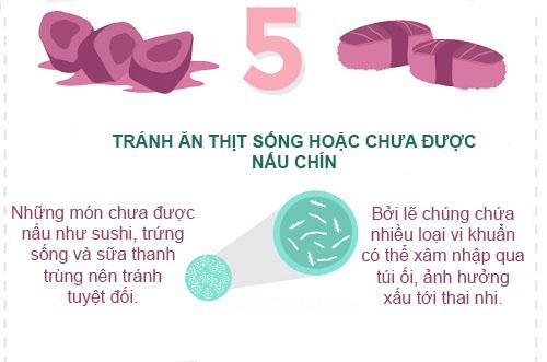 'diem danh' nhung thuc pham cam ky voi me bau - 7