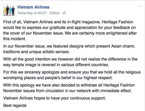 vietnam airlines xin loi vi anh ao dai in hinh chua thieng myanmar - 3