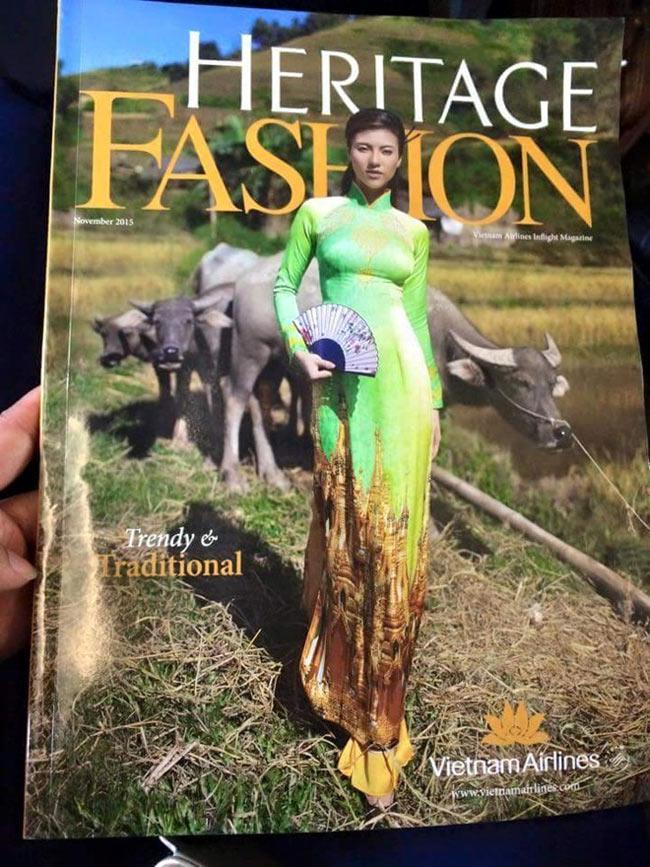 Vietnam Airlines đã phải thu hồi toàn bộ ấn phẩm tháng 11 của tạp chí Heritage khi một vị hòa thượng người Myanmar phản ứng gay gắt trước tà áo dài có in hình ngôi Chùa Vàng linh thiêng của đất nước mình.