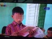 Tin tức - Học sinh cầm ngược sách đọc trôi chảy lên sóng VTV