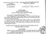 """Tin tức - Bộ TT&TT nói về vụ bị phạt vì """"chê"""" chủ tịch trên Facebook"""