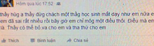 "hoc sinh cu xin loi vi vu khong thay giao ""hai doi"" nu sinh - 1"