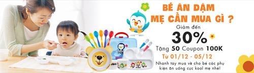 giam toi 30% phu kien an dam cho be + tang coupon 100.000d - 1