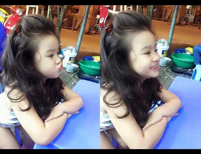 1. Bé gái Hà Nội  Bé gái từng khiến cho cộng đồng mạng phải 'điên đảo' này có tên là Yến Trang (tên thân mật là Kitty), năm nay 3.5 tuổi, hiện đanghọc tại trường mầm nonở quận Hai Bà Trưng(Hà Nội)