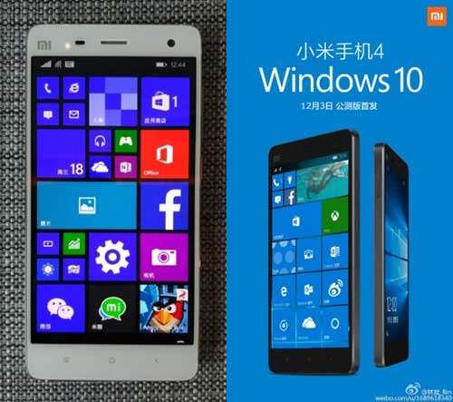 smartphone cua xiaomi co phien ban chay windows 10 mobile - 1
