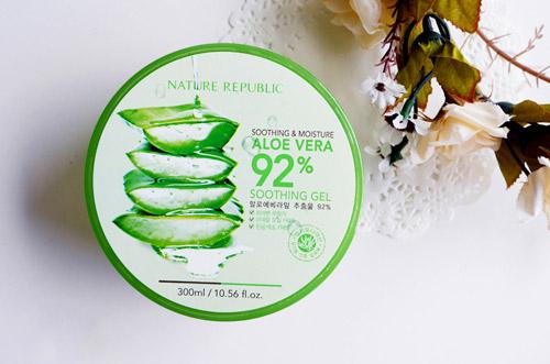 danh gia hu gel lo hoi nature republic soothing moisture aloe 92% soothing gel - 1