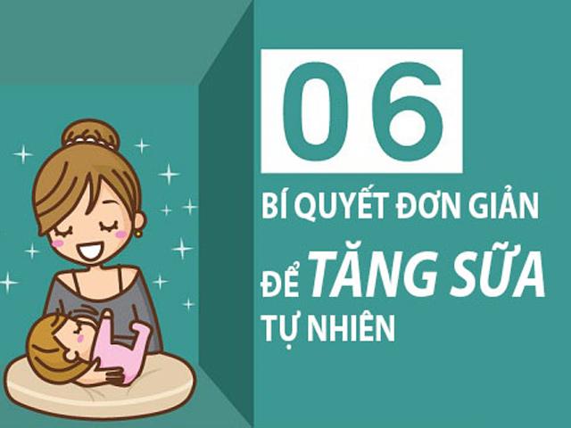 6 chiêu đơn giản giúp mẹ không lo thiếu sữa