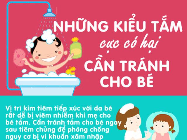 Những kiểu tắm cực có hại cần tránh cho bé