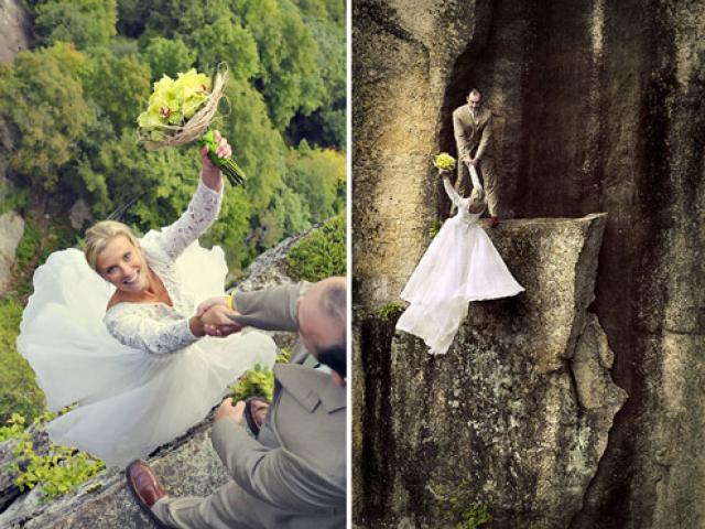 Bộ bức ảnh cưới khiến người xem rợn người