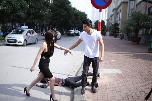 """hot girl linh miu thu suc voi sitcom nhieu """"canh nong"""" - 5"""