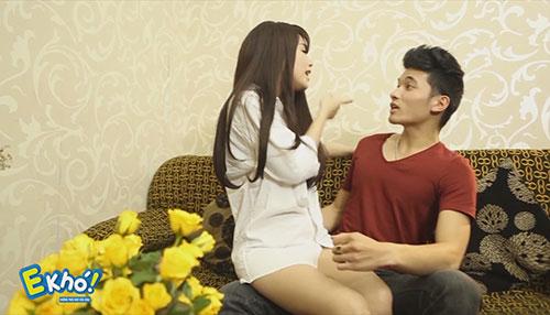 """hot girl linh miu thu suc voi sitcom nhieu """"canh nong"""" - 3"""